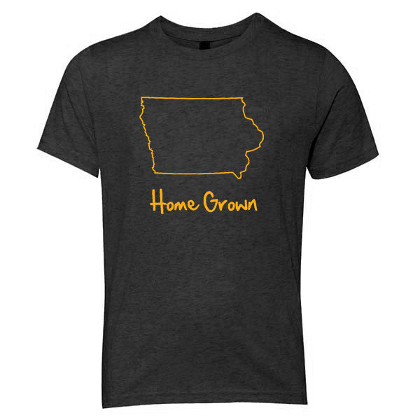Iowa Home Grown Youth Triblend - Vintage Black