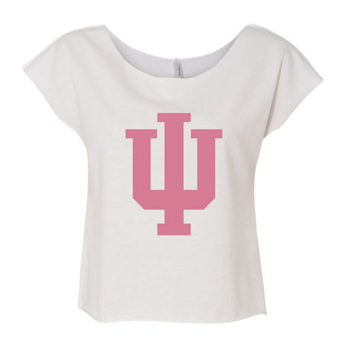 Indiana University Faded Trident Terry Dolman - White