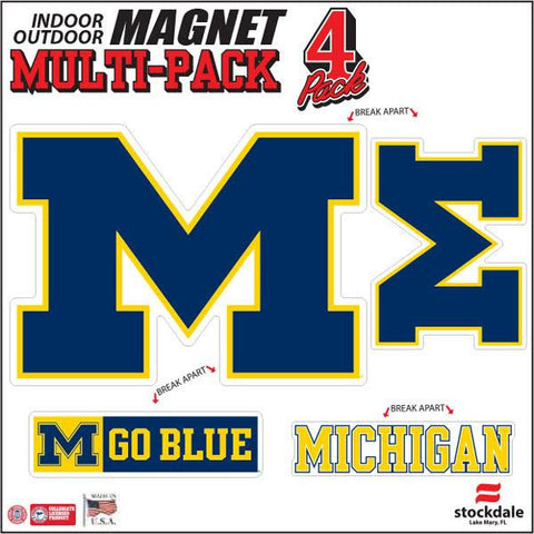 Michigan 4pk Magnet Set