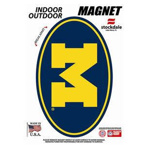 Block M Oval 5x7 Magnet - Navy