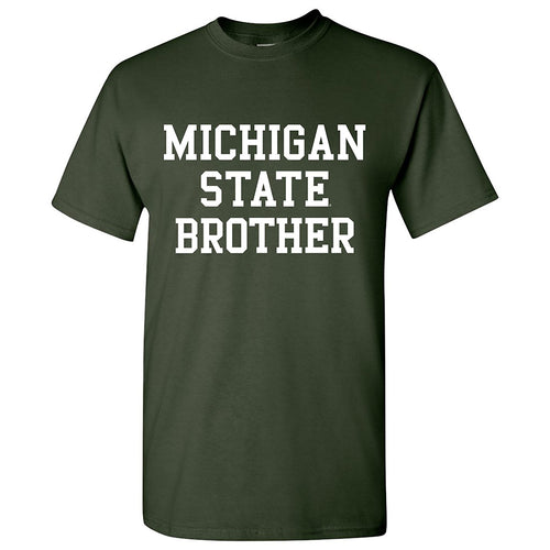 Michigan State University Spartans Basic Block Brother Next Level Short Sleeve T Shirt - Forest Green