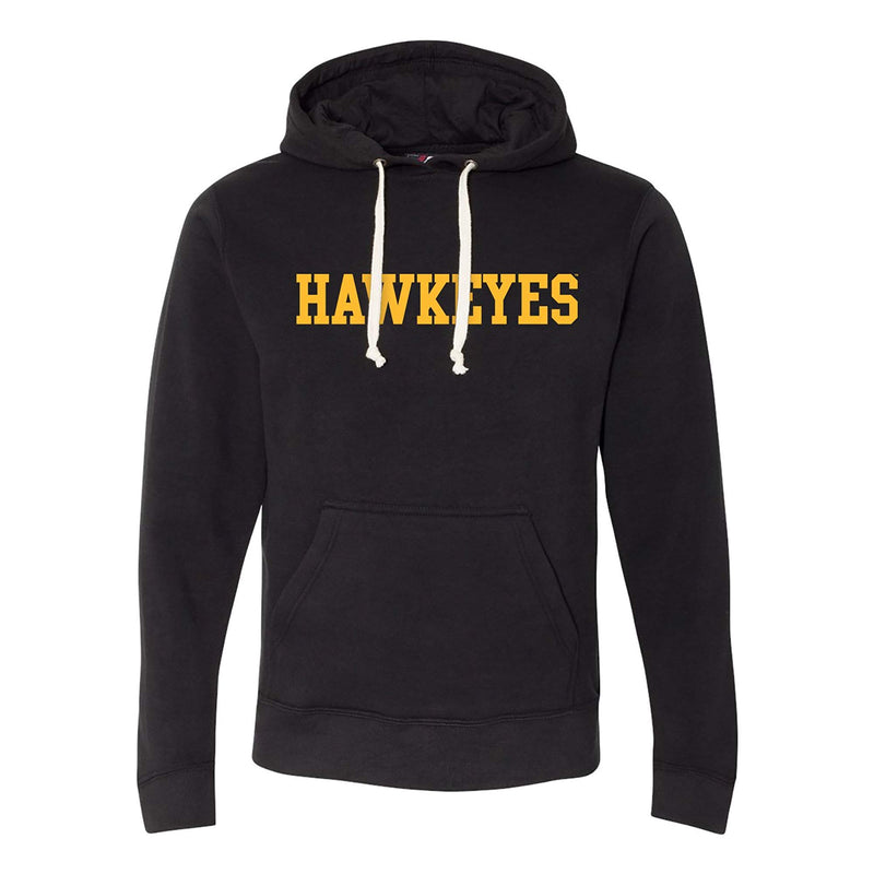 University of Iowa Basic Block Hawkeyes J. America Pullover Hoodie - Black