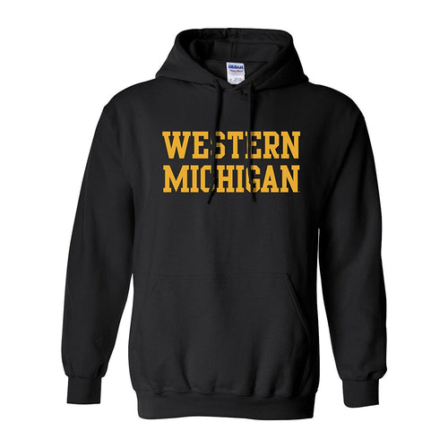 Western Michigan Basic Hood - Black