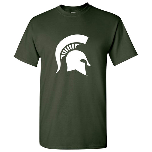 Michigan State University Spartan Logo Short Sleeve T Shirt - Forest Green