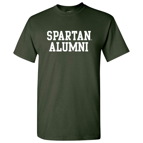 Michigan State University Spartans Basic Block Alumni Next Level T Shirt - Forest