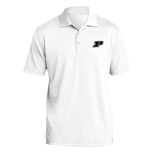 Purdue University Boilermakers Block P Logo Polo - White
