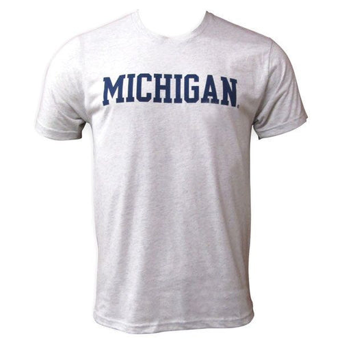 Block Michigan Next Level Apparel Triblend - White