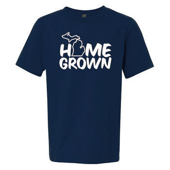 Home Grown MI Youth Tee - Midnight Navy