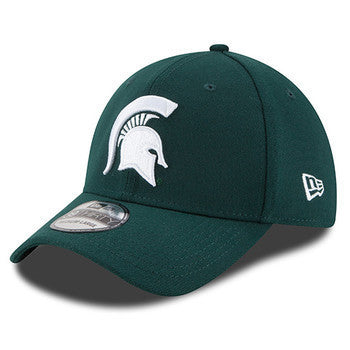 MSU Spartan Logo New Era 39Thirty - Forest/White