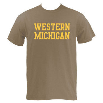 Western Michigan Basic Tee - Brown Savana