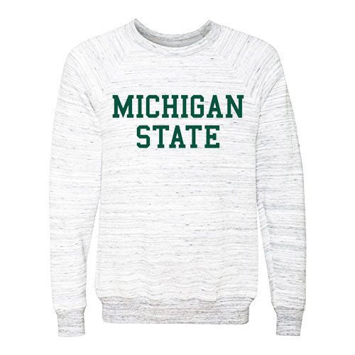 Michigan State Sponge Fleece Pullover - Grey Marble