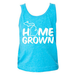 Home Grown MI Toddler Tank - Neon H. Blue
