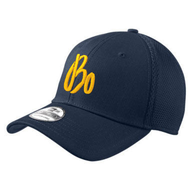 Bo Schembechler Signature New Era  Stretch Mesh Hat - Navy