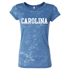 Carolina Burnout Tee 8601 - Steel Blue