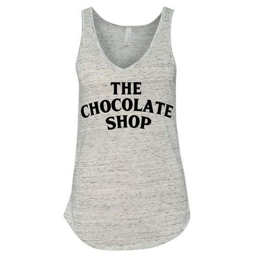 Harry's Chocolate Shop V-Neck Tank - White Marble
