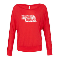 Nebraska Home Flowy LS - Red