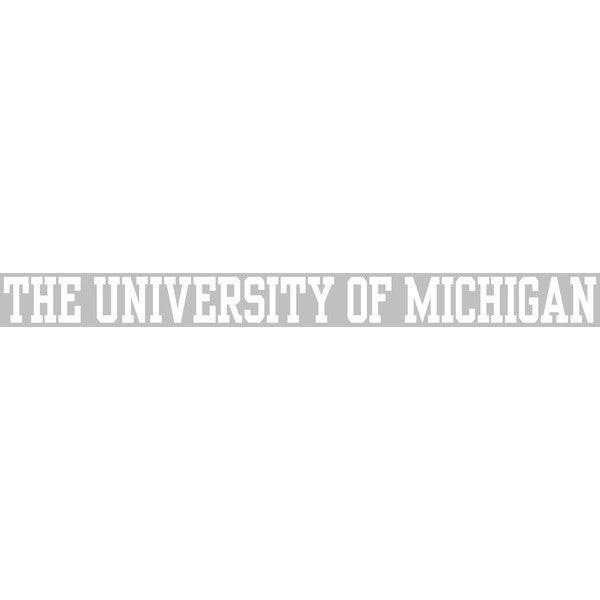University of Michigan White Strip Decal 2x20