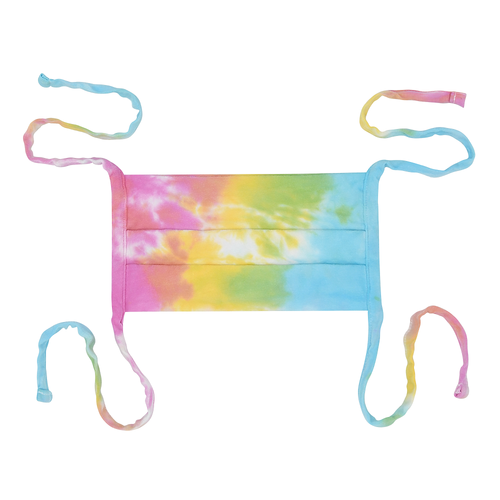 Tye Dye 100% Cotton Made in USA Tie Back Face Mask - Cotton Candy