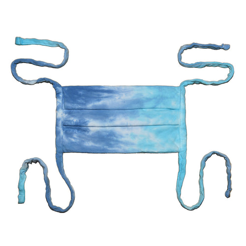 Tye Dye 100% Cotton Made in USA Tie Back Face Mask - Lagoon
