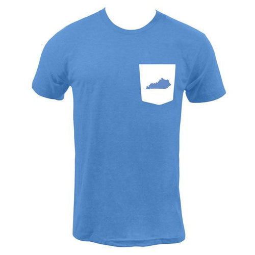 Kentucky Pocket Tee - Heather Lake Blue