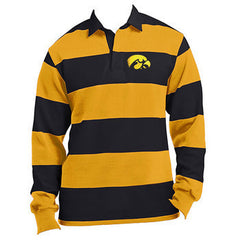Iowa Hawkeye Emb. Rugby - Black/Gold