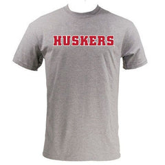 Block HUSKERS - MVS Short Sleeve - Heather Grey