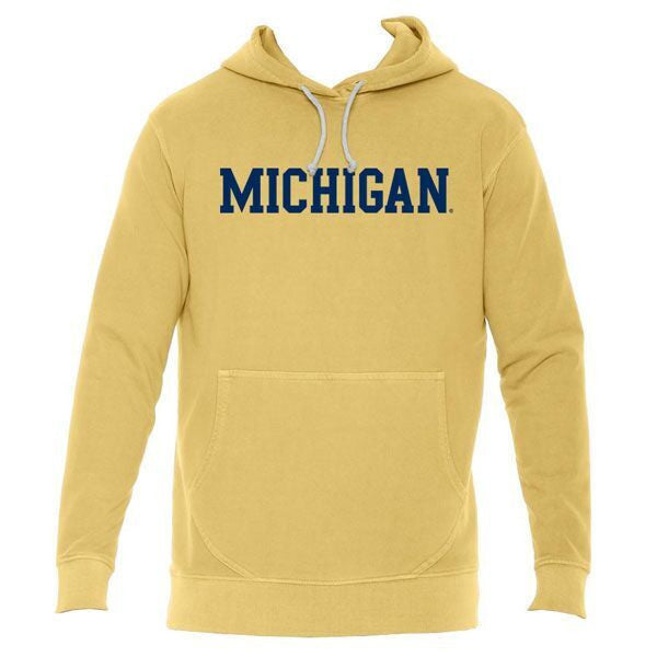 Michigan French Terry Hoodie - Mustard