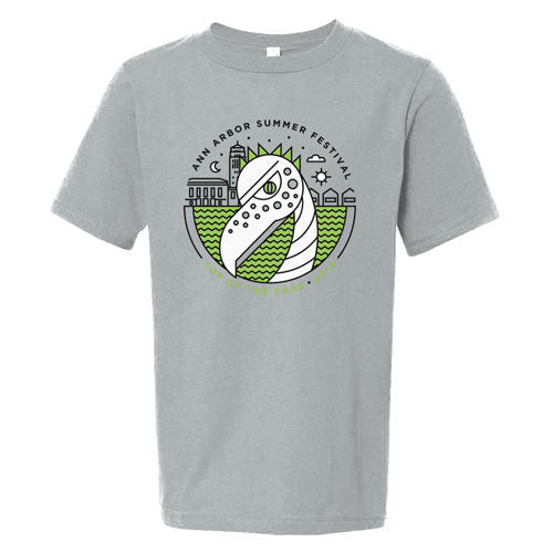 AASF16 Youth Saurus Tee - Warm Grey