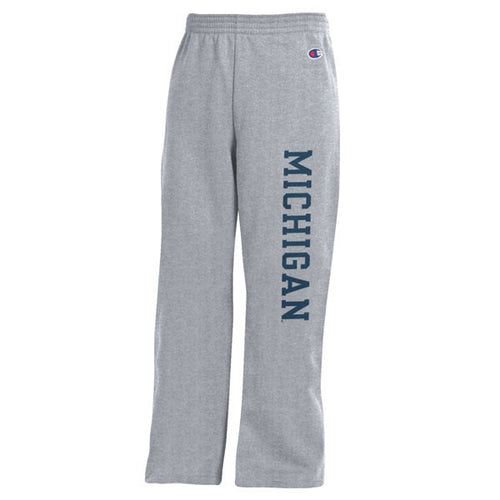 Basic Block University of Michigan Champion Youth Sweatpants - Heather Grey