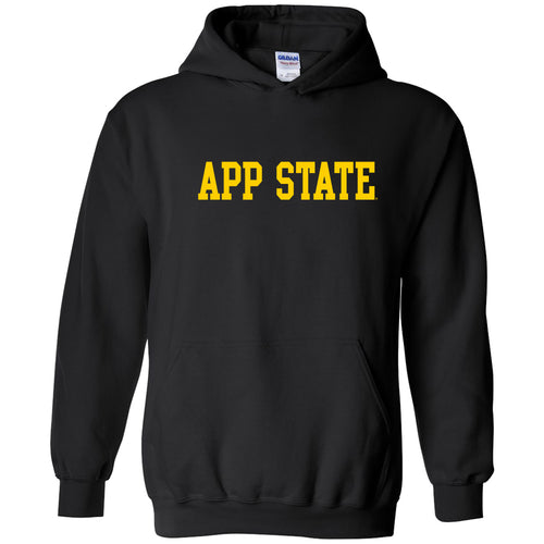 Appalachian State University Mountaineers Basic Block Cotton Hoodie - Black