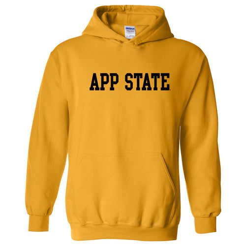 Appalachian State University Mountaineers Basic Block Cotton Hoodie - Gold