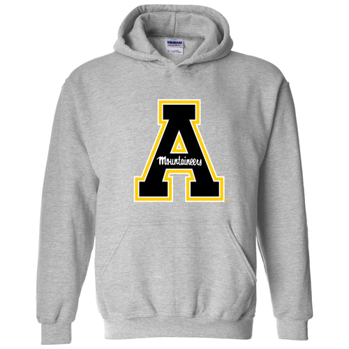 Appalachian State University Mountaineers Primary Logo Cotton Hoodie - Sport Grey