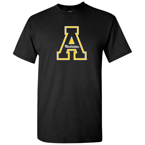 Appalachian State University Mountaineers Primary Logo Cotton T-Shirt - Black