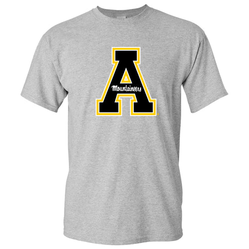 Appalachian State University Mountaineers Primary Logo Cotton T-Shirt - Sport Grey