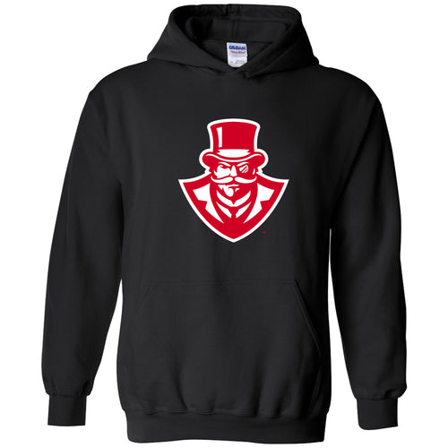Austin Peay State University Governors Primary Logo Cotton Hoodie - Black