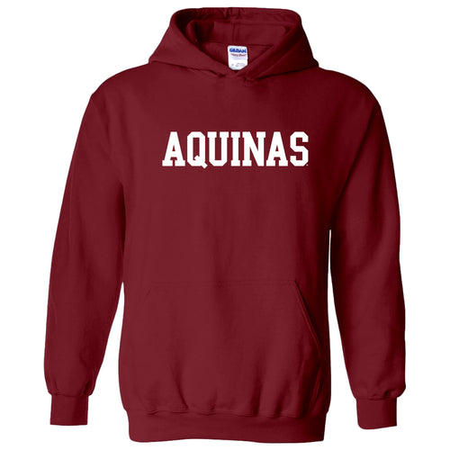 Aquinas College Saints Basic Block Heavy Blend Hoodie - Garnet