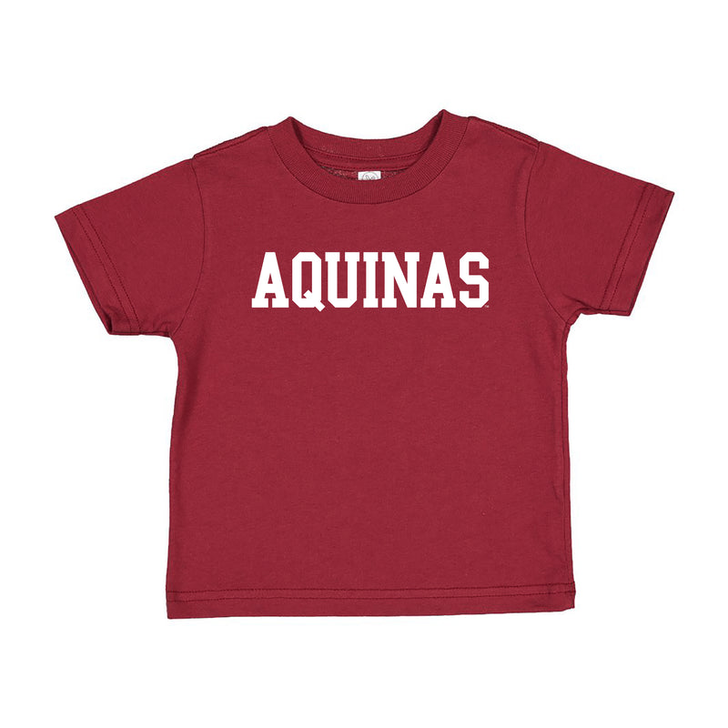 Aquinas Basic Block Toddler T Shirt - Garnet