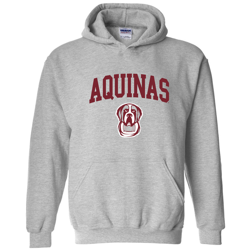Aquinas College Saints Arch Logo Heavy Blend Hoodie - Sport Grey