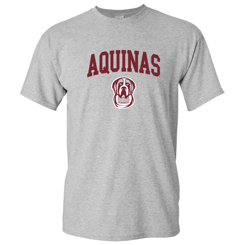 Aquinas College Saints Arch Logo Basic Cotton Short Sleeve T Shirt - Sport Grey