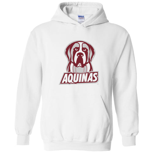 Aquinas College Saints Primary Logo Heavy Blend Hoodie - White