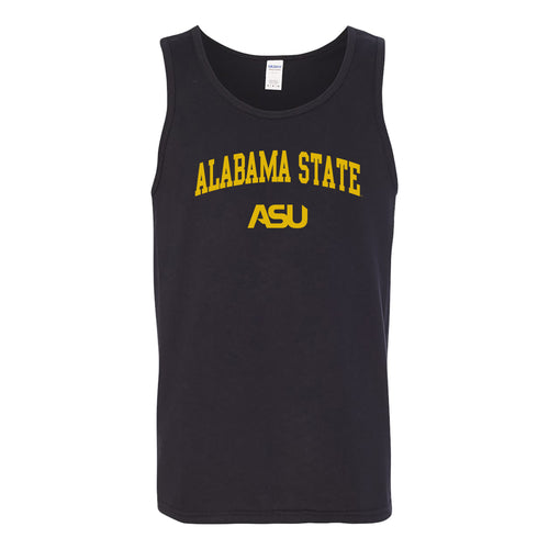 Alabama State University Hornets Arch Logo Tank Top - Black