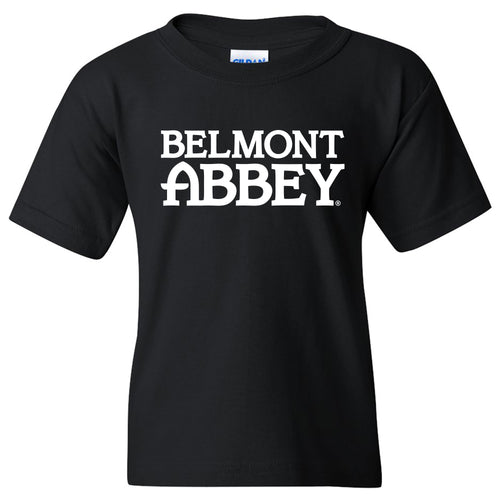 Belmont Abbey College Crusaders Basic Block Youth Short Sleeve T Shirt - Black