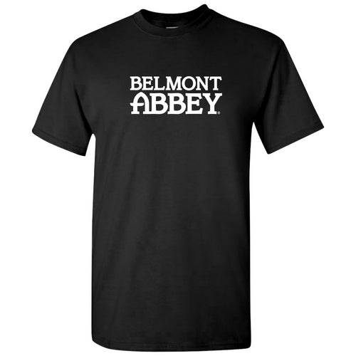 Belmont Abbey College Crusaders Basic Block Short Sleeve T Shirt - Black
