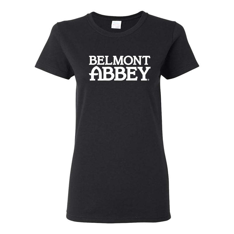 Belmont Abbey College Crusaders Basic Block Womens Short Sleeve T Shirt - Black