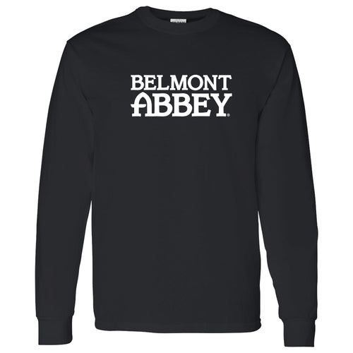 Belmont Abbey College Crusaders Basic Block Long Sleeve T Shirt - Black