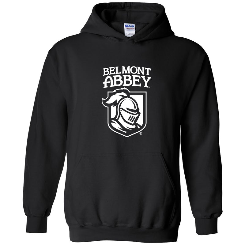Belmont Abbey College Crusaders Arch Logo Hoodie - Black