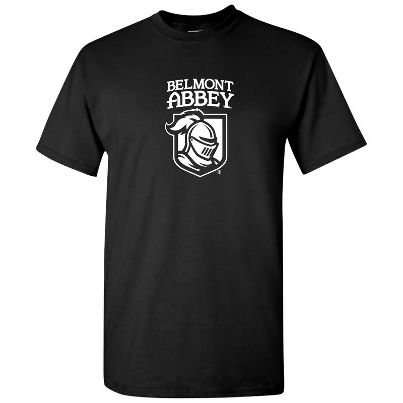 Belmont Abbey College Crusaders Arch Logo Short Sleeve T Shirt - Black