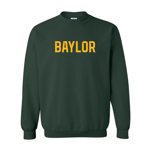 Baylor University Bears Basic Block Crewneck - Forest