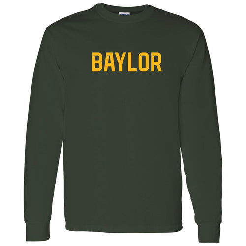 Baylor University Bears Basic Block Long Sleeve T Shirt - Forest