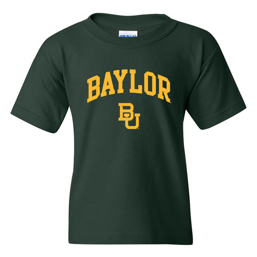 Baylor University Bears Arch Logo Youth Short Sleeve T Shirt - Forest